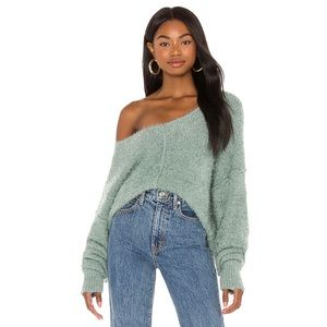Free People Icing V-Neck Sweater in royal blue S